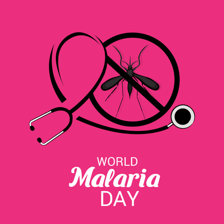 World Malaria Day red poster