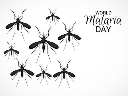 World Malaria Day vintage poster