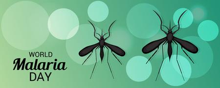 World Malaria Day green color poster Illustration
