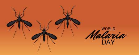 World Malaria Day colorful poster Illustration