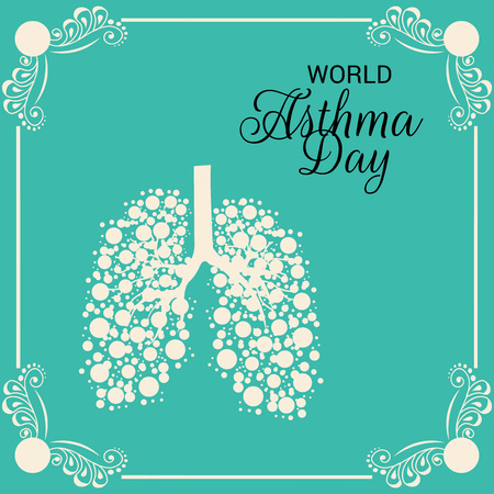World Asthma Day poster template vector illustration. Ilustrace