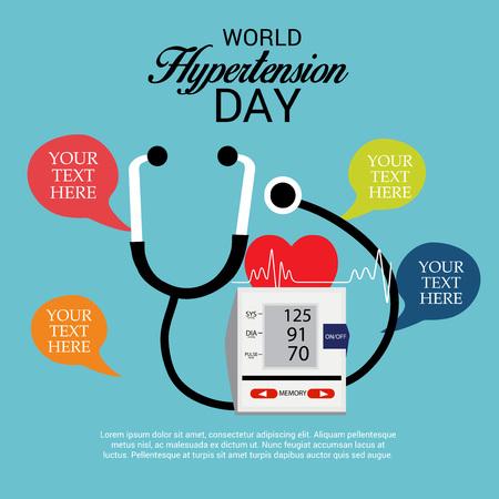 Día mundial de la hipertensión. Ilustración de vector