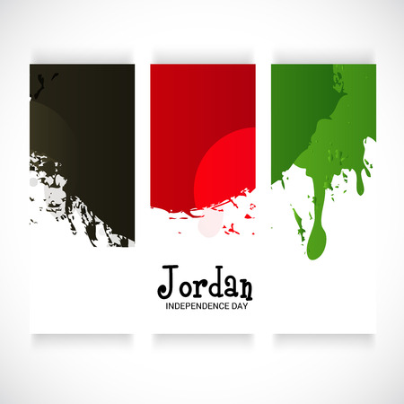 Jordan Independence Day. Ilustrace