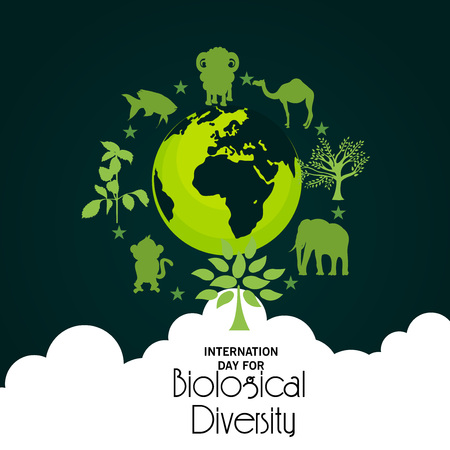 International Day For Biological Diversity. Stock Illustratie