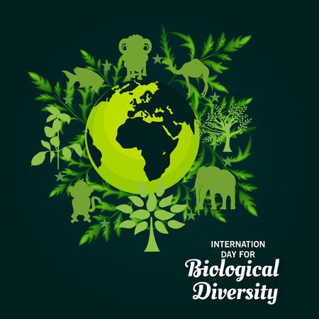 International Day For Biological Diversity. Ilustração