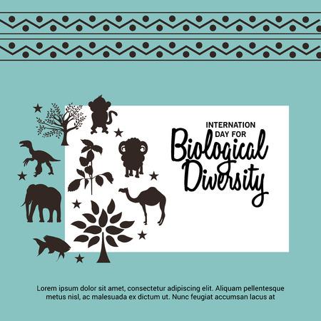 International Day For Biological Diversity.  イラスト・ベクター素材