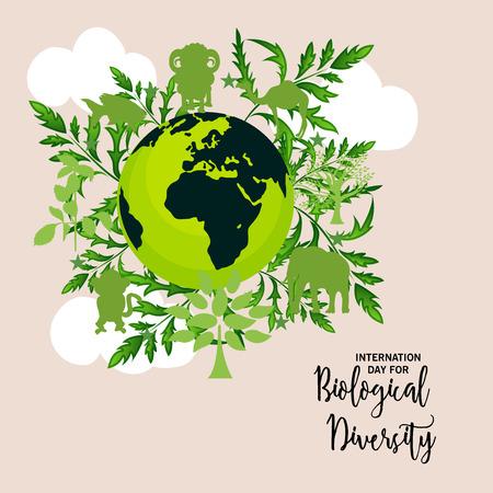 International Day For Biological Diversity illustration.