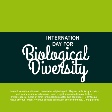 International Day For Biological Diversity. Vettoriali
