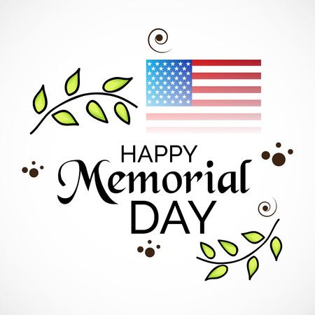 Happy Memorial Day. Иллюстрация