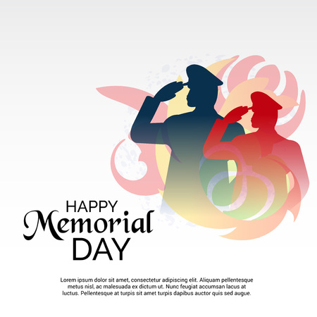 Happy Memorial Day. Illustration
