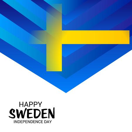Happy Sweden Independence Day. Illustration