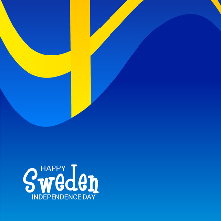 Happy Sweden Independence Day. 일러스트