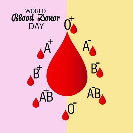 World Blood Donor Day.  イラスト・ベクター素材