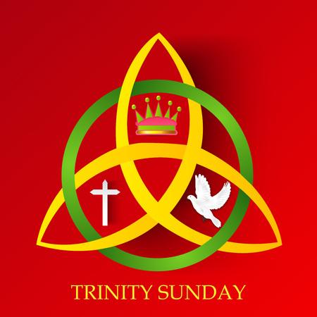 Domingo de la Trinidad. Ilustración de vector