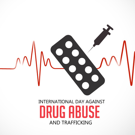 International Day Against Drug Abuse. Ilustração