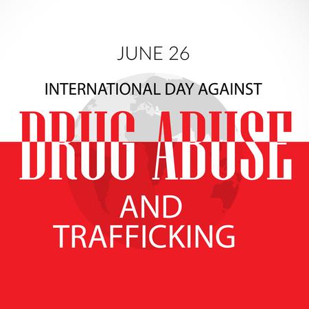 International Day Against Drug Abuse. Illustration