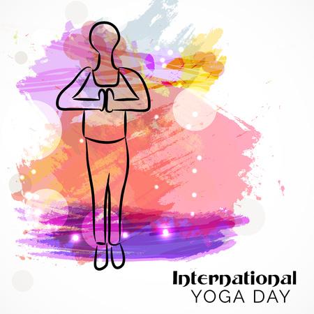 International Yoga Day. Vetores