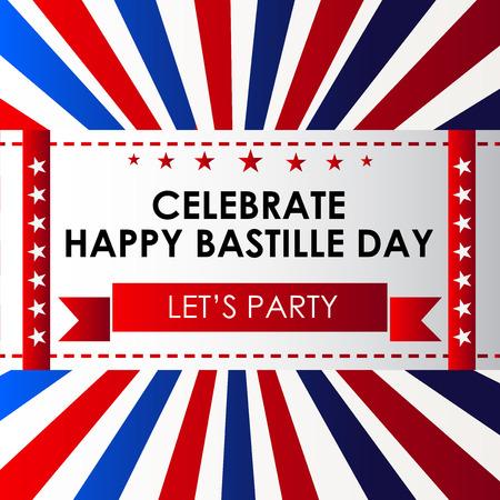 France Bastille Day. Vector Illustration