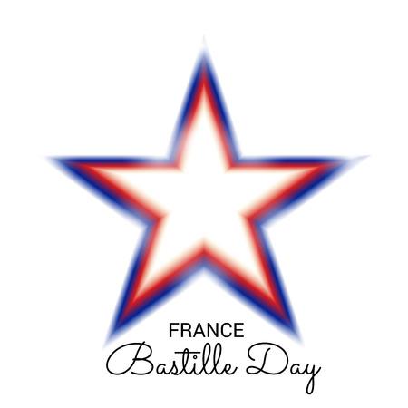 France Bastille Day. Illustration