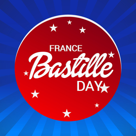 France Bastille Day. Illustration