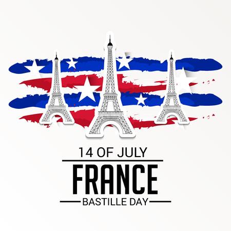 France Bastille Day. Ilustracja