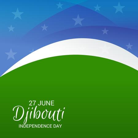 Djibouti Independence Day Patriotic Design.