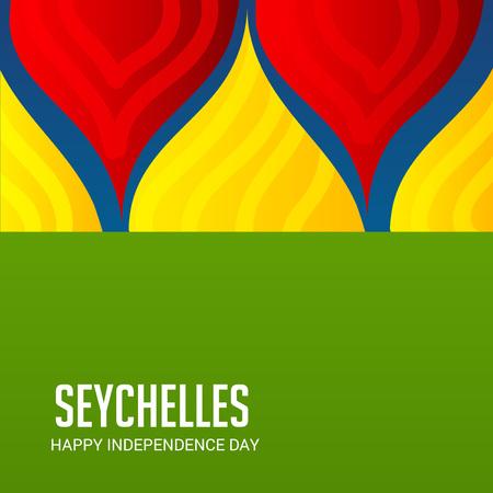 Seychelles Independence Day Patriotic Design.