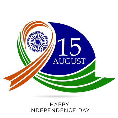 15th August Happy Independence Day of India 일러스트