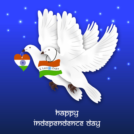 15th August Happy Independence Day of India Illustration