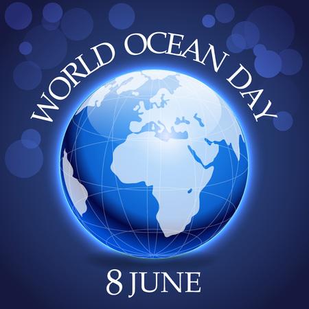 World Ocean Day. Illustration