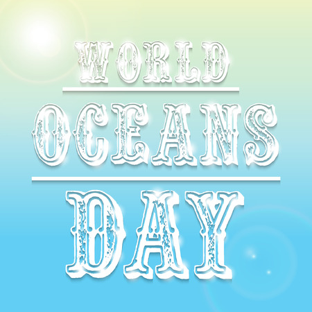 World Ocean Day. Illustration