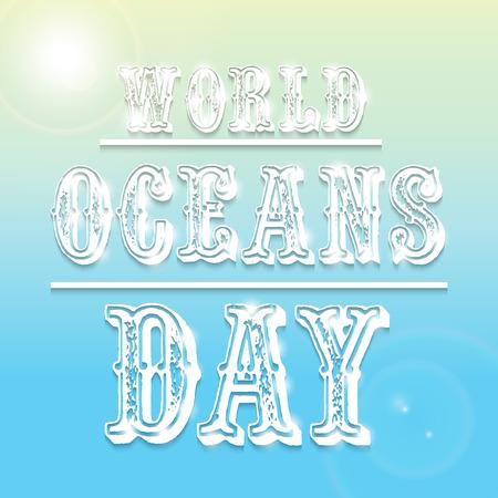 World Ocean Day. 向量圖像
