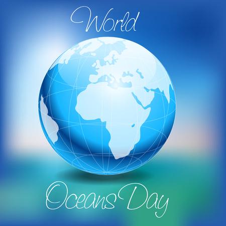 World Ocean Day. Stock Illustratie