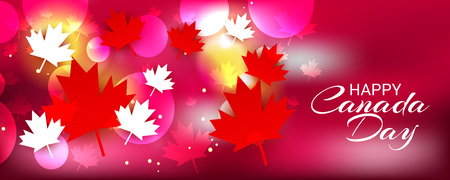 Happy Canada Day with Text Space Background.