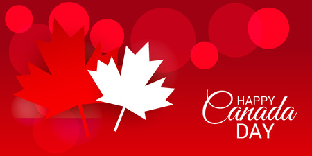 Happy Canada Day with Text Space Background. Illustration