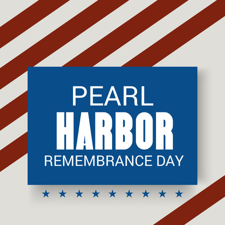 Pearl Harbor Remembrance Day. Vector Illustration