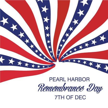 Pearl Harbor Herdenkingsdag. Vector Illustratie