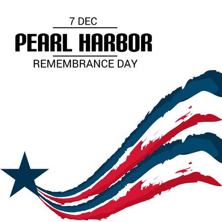 Día del Recuerdo de Pearl Harbor. Ilustración de vector