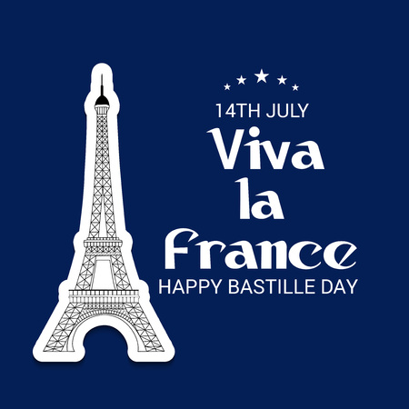 14th of July. Happy Bastille Day.