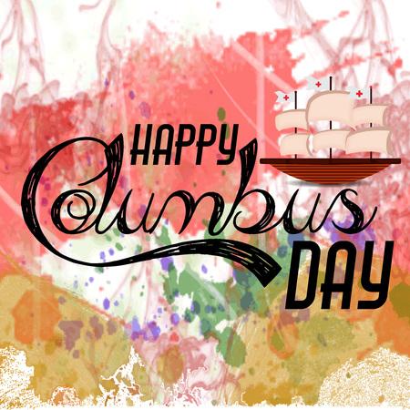 Happy Columbus Day. Ilustração Vetorial