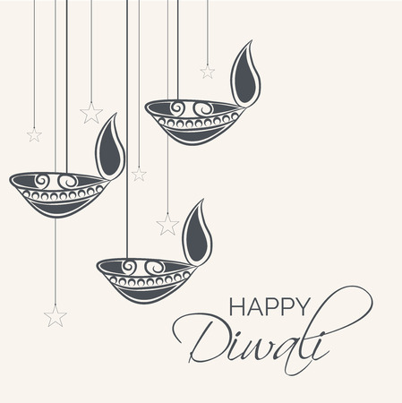 Happy Diwali. Illustration