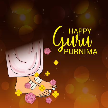 Happy Guru Purnima. 向量圖像