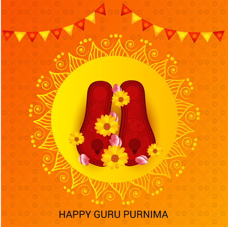 Happy Guru Purnima. Çizim