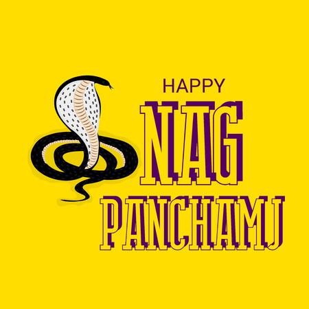 Happy Nag Panchami. Ilustración de vector
