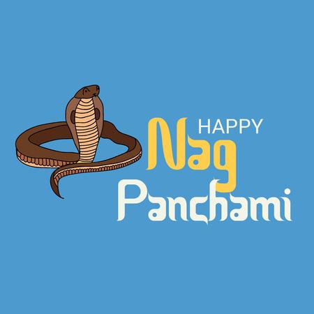 Happy Nag Panchami.  イラスト・ベクター素材