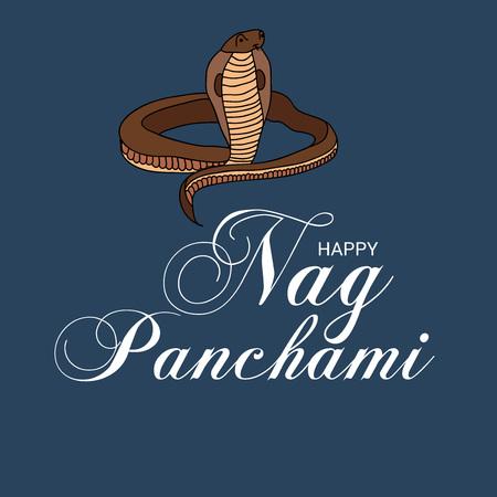 Happy Nag Panchami. Ilustração