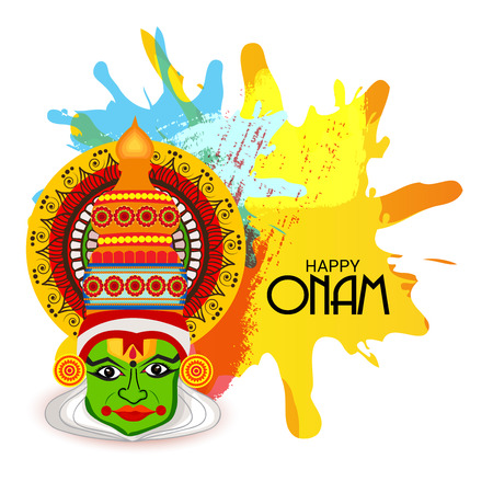 Happy Onam. 向量圖像