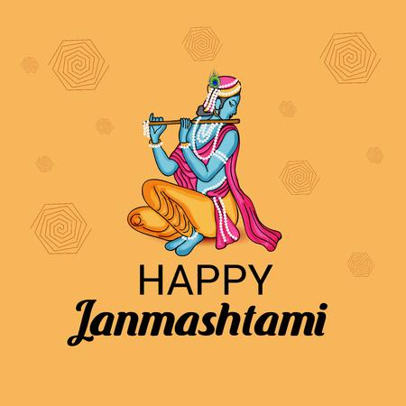 Happy Janmashtami. Stock Vector - 106605788