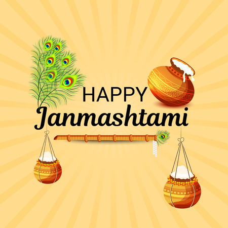 Happy Janmashtami. Stock Vector - 106605792