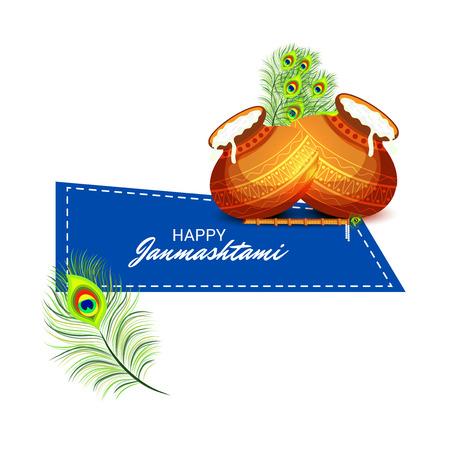 Happy Janmashtami. Stock Vector - 106605849